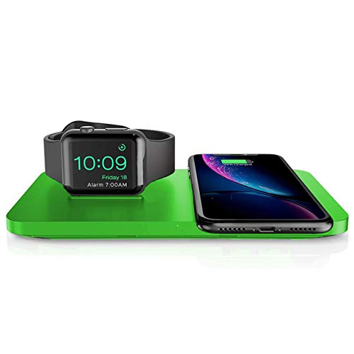 Holife Chargeur Rapide sans Fil, Chargeur Indiction Qi 10W 2 Bobines, Rapide 10w pour Galaxy Note 9/S9/S9+/S8/S8+/Note 8/S7/S7 Edge/S6 Edge +, 5w Standard pour iPhone XS/XS Max/XR/X / 8 / 8S