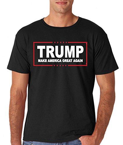 AW Fashions Men's Trump Make America Great Again - MAGA Tee - 45th President 2020 Trump T-Shirt (Black, X-Large)