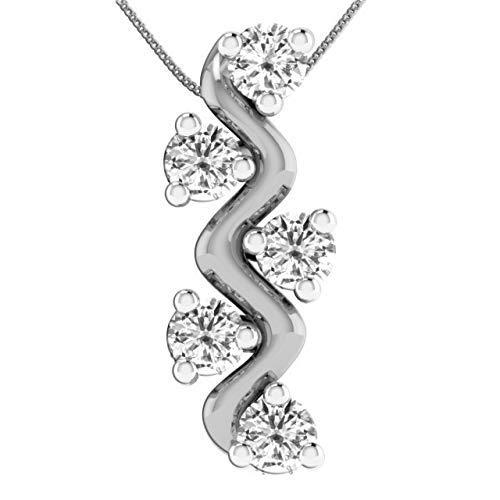Colgante de diamante inspirado en la alfombra roja de Dishis Designer Jewelry,...