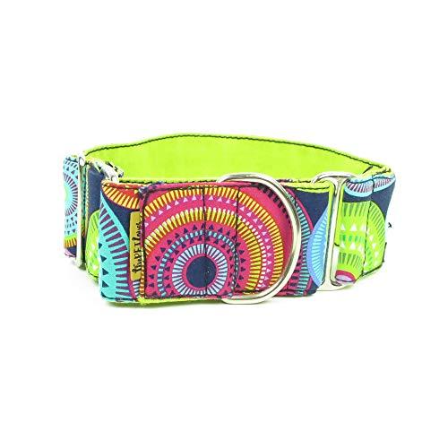 ThePetLover - Collar Martingale Circulos Multicolor para Perros