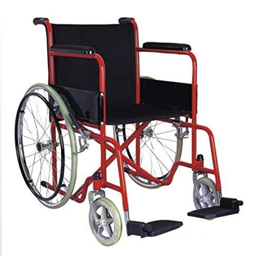 FTFTO Living Decoration Silla de Ruedas Plegable con una Persona Mayor con discapacidad Liviana sentada Que se Sienta en el costado de la Silla de Ruedas multifunción con Respaldo Alto 6