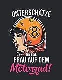 Racing Logbuch: Dein persönliches Tagebuch für Motorrad Rennen und Renntrainings auf der Rennstrecke ♦ für über 100 Einträge ♦ A4+ Format ♦ Motiv: Frau auf dem Motorrad 3