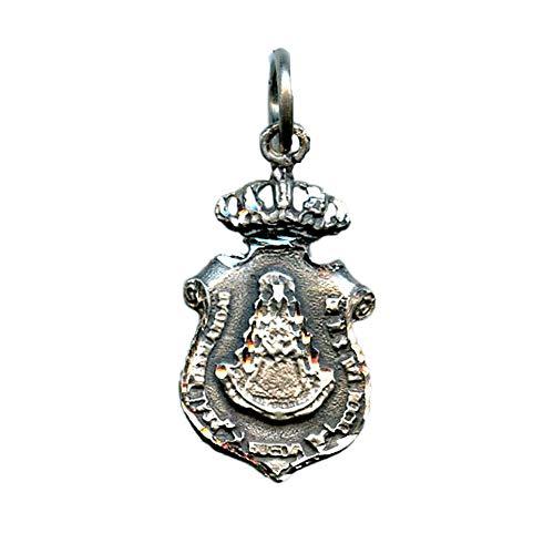 Medalla Virgen del Rocio Hermandad DE HUELVA 29x16 mm Plata DE Ley