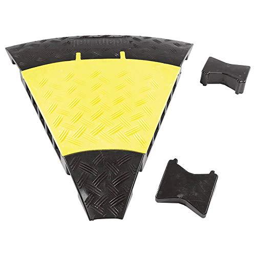 45° Biegung für Kabelbrücke Defender MIDI, 5 Kanäle, gelb/schwarz, Polyurethan