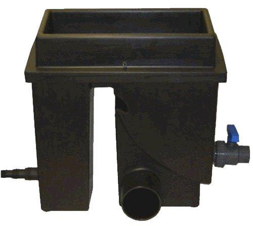 Spaltsiebfilter Bogensiebfilter Teichfilter schwarz Spaltsieb/Bogensieb 200µ mit Schmutzauslass