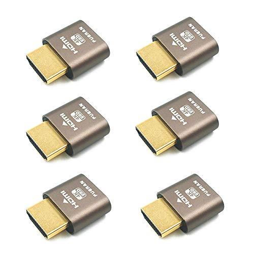 HDMI DDC EDID Blindstecker, Headless Ghost, Displa-Emulator (Passend für Headless: 1920 x 1080 @ 60Hz - 6er-Pack)