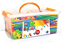Ms.0 2021年 やわらかい ストローチューブ 式 創作 パズル 知育玩具 おもちゃ ブロック 積み木 ホース (600pcs)