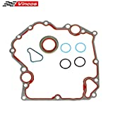 Vincos Timing Cover Gasket Kit TCS46000 Compatible with Dodge/Jeep 1999-2009 3.7L 4.7L Replacement For Mitsubishi Raider 2006-2007 4.7L Vin N Replacement for Dodge Dakota 2004-2009 3.7L Vin K