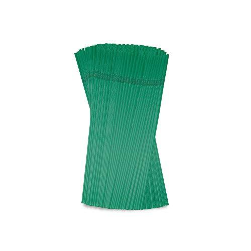 BIOZOYG Cannucce Pieghevoli ecologiche 20cm Ø 0,5 cm I in Bio-Plastica PLA Verde I Cannucce ostenibili per Party Cocktail Pieghevoli I cannucce confezionate singolarmente 6400 pz