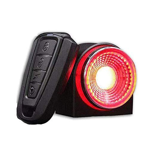 ZBQLKM Cola Light moto de agua □ □ □ Resistente USB recargable alarma antirrobo de cola de la bicicleta luz inalámbrica Cuerno coche de la campana del altavoz de agudos luz de la noche a caballo de la