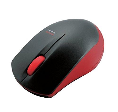 エレコム マウス Bluetooth (iOS対応) Sサイズ 小型 3ボタン IRセンサー 省電力 レッド M-BT12BRRD