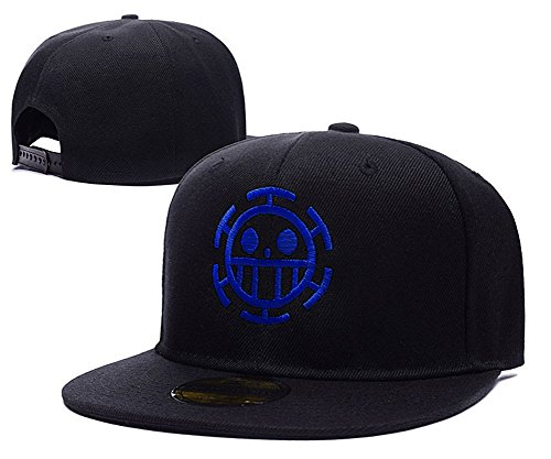 Anime One Piece Trafalgar Law Logo Adjustable Snapback Tapas Bordado Sombreros