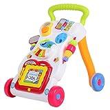 GOTOTOP - Carrito de senderismo para bebé, juguete con actividades para niños, piano de música, juguete educativo
