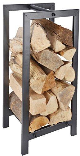 Porte-bûches de bois en métal accessoire de poêle et de cheminée pour le transport et le rangement de bûches