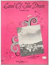 CAROL OF THE DRUM KATHERIN DAVIS 1959 SHEET MUSIC FOLDER 424 SHEET MUSIC