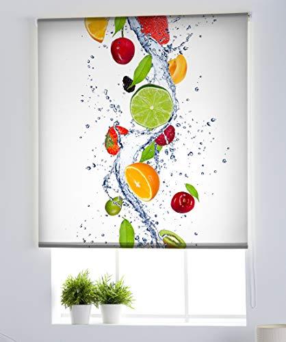Estoralis C-1229 Basic Estor Enrollable Digital, Poliéster, Multicolor, 130 x 175 cm