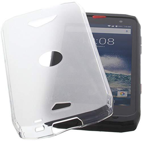 foto-kontor Hülle für CrossCall Action X3 Tasche Gummi TPU Schutz Handytasche transparent