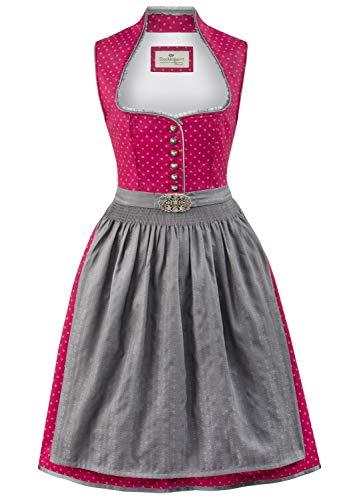 Stockerpoint Damen Ditta Dirndl, Mehrfarbig (Beere-Grau Beere-Grau), (Herstellergröße: 40)