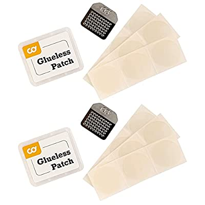 CyclingDeal Glueless Bike Tire Patch Repair Kit - Bicycle Inner Tube Puncture Patching - No More Rubber or Glue - Flat Tube Repair - Great for Mountain, Road & City Bikes