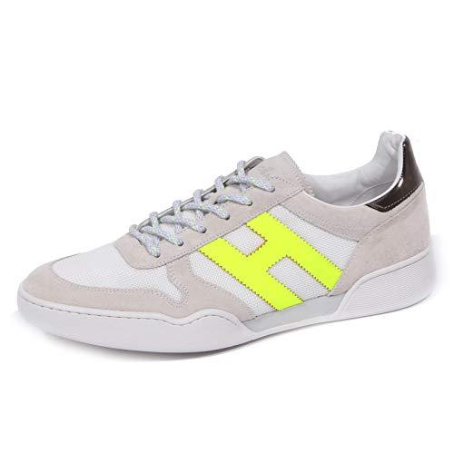 Hogan 1209J Sneaker Uomo Grey/White/Yellow Fluo H357 Scarpe Shoe Man [5]