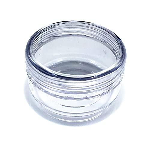 Eco Memos 20pcs Tarros de Plástico 5G/7G/10G/15G/20G Tarro de Plástico Limpio - Pequeña Contenedores de Cosméticos de Viajes Redondos para Sombra de Ojos, Joyería y Cremas Maquillaje (7g)