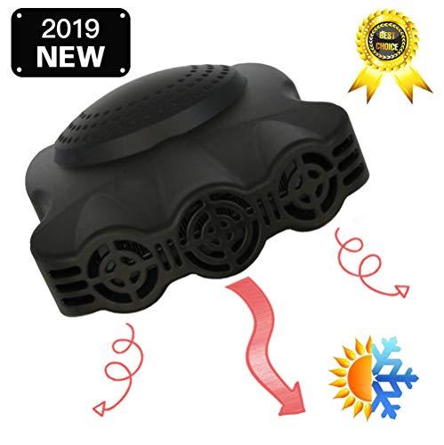 12 V, 3 gaten voor auto, snel ontdooien, draagbaar, 2-in-1, met verwarmings- en koelfunctie, 12 V, 150 W, thermostaat verstelbaar op 3 stopcontacten, zwart, in sigarettenaansteker