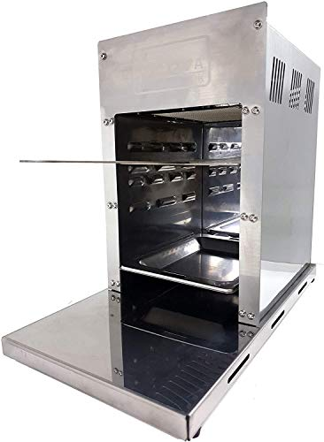 ACTIVA 800° Oberhitzegrill Gasgrill Grill Steakgrill 4,2 kW Edelstahl, Easy Clean