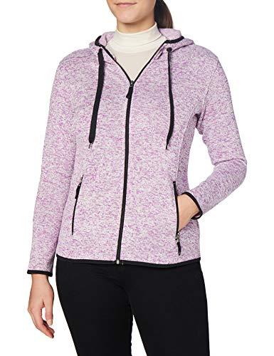 Stedman Apparel Active Knit Fleece Jacket/ST5950 Felpa, Viola Melange, 46 Donna