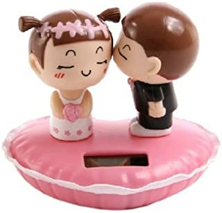 Solar Bobblehead Dolls-Lovers Kiss Dashboard Dancing Toy-Creative Car Decoration Accessories-For Home Windows,Office Desk,Auto,Lovers Present