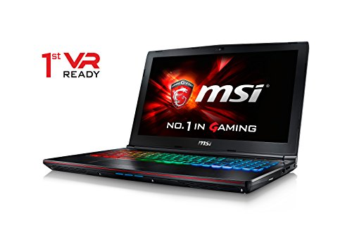 CUK MSI GE62VR Apache Pro VR Ready Laptop (i7-7700HQ, 16GB RAM, 500GB NVMe SSD + 1TB HDD, NVIDIA Geforce GTX 1060 6GB, Killer 1535 AC WiFi, 15.6' Full HD, Windows 10) - 2017 Gaming Notebook Computer