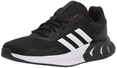 adidas Men's Kaptir Super Running Shoe, Black/White/Grey, 9