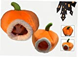 <span class='highlight'><span class='highlight'>Ruluti</span></span> 1pc Pumpkin Shape Pet House Bed, Hamster Hanging Bed House Hammock Guinea Pig Hedgehog Chinchilla Bed House Cage Nest