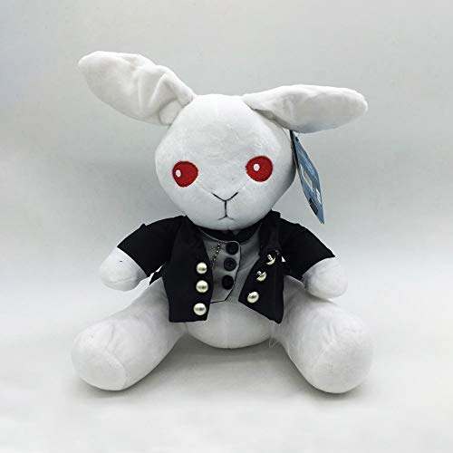 WZNING Black Butler Charles Peter Rabbit Pluche Doll Butler Sebastian Bunny Doll omlaag Cotton Ragdoll knuffel Knuffels for Boy Girl Birthday Holiday Gift (Color : White)