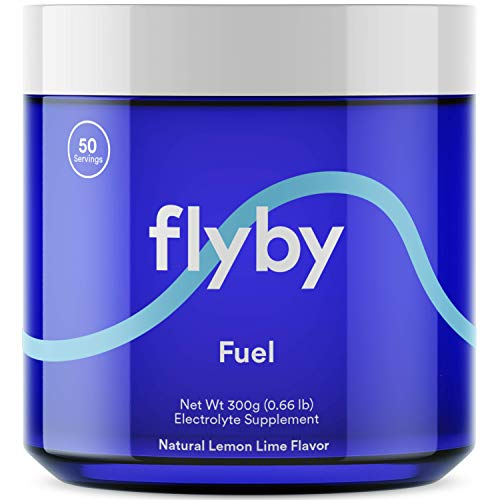 Flyby Keto Electrolyte Powder  50 Servings  Rapid Rehydration Recovery Energy amp Leg Cramps  72 Trace Minerals Salts Magnesium Potassium Sodium Calcium  NO Sugar NO Maltodextrin  Lemon Lime