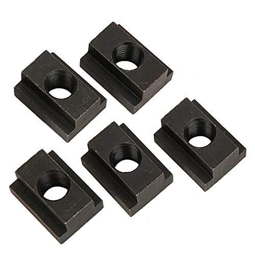 nobrands T-Nutenmutter-5 Stück T-Nutenmutter-Befestigungselement M12 Die Gewinde Werden in den T-Nutenschlitz des Werkzeugmaschinentischs eingeführt