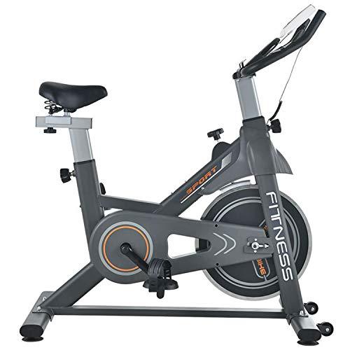 Baaaaaaa Fietstrainer met traploze magneetweerstand, hometrainer, indoor cycling bike, in hoogte verstelbaar, staal, zwart