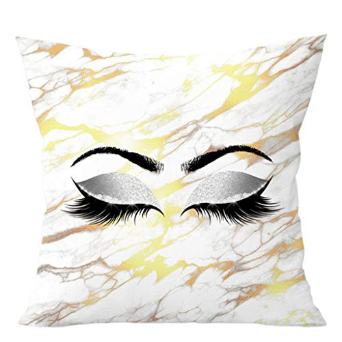 CHIHUOBANG Throw Cushion Covers with invisible zipper, Fashion Lash Pattern Soft Decorative Square Cushion Case Pillowcase For Home Sofa Couch Bedroom Car Office