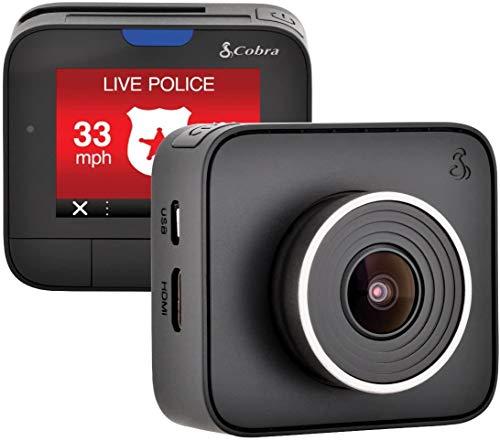 Cobra Dash Camera DASH2208 - 1296p Super HD, 8GB MicroSD Included, Loop Recording, G-Sensor Auto Accident Detection, 160 Degree Ultra Wide Angle DVR, 2 Inch LCD Screen