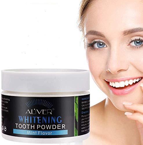 Aktivkohle Pulver Zahnaufhellung,Zahnaufhellung Zähne Pulver,Activated Charcoal Teeth Whitening Powder,Natürliche Kokosnuss Aktivkohle,Entfernen Flecken Polieren Zahnreinigung für superweiss Zähne