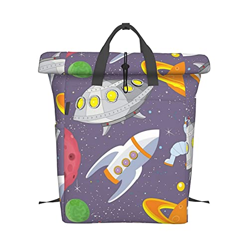 YNLYHNN Unisex Backpack Fashion Daypack Fashion School Bag Water Resistant Book Purse Lightweight Laptop Rucksack Classic Printed Backpack Shoulder Bag Shopping Travel Black