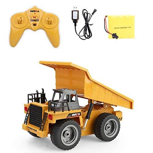 RC Auto kaufen Baufahrzeug Bild 3: LoKauf 1:18 6CH Dumper Kipper mit Fernbedienung RC Bagger Metall Ferngesteuert für Kinder*