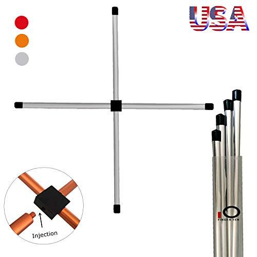 Golf Alignment Sticks Swing Trainers 1 Set 3 Colors, Portable Aluminous...