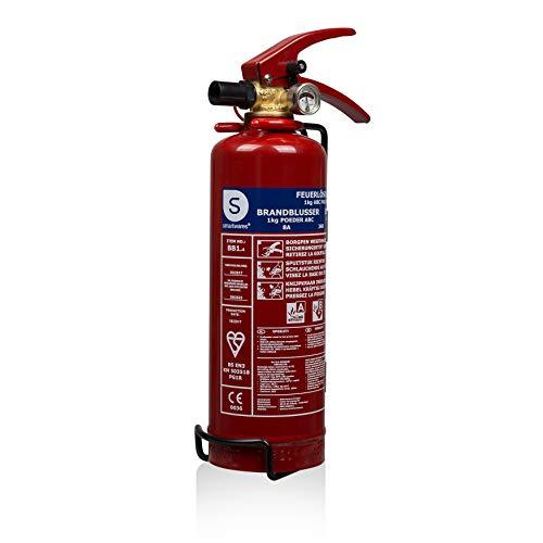 Smartwares 10.018.56 (BB1) Extincteur poudre 1 kg pour feux ABC, Rouge