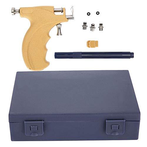 Pongnas 1 Set Professionelle Stahl Sicherheits-Ohrstöpsel Nabelpiercing Pistole Schmerzfreie Sicherheits-Perforations-Werkzeug Beauty Set Steriler Logo-Stift und Aufbewahrungsbox