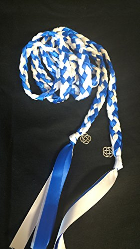 Royal Blue and White Handfasting Cord with Celtic Knot- Wedding- Ceremony Braid- BraidedTogether