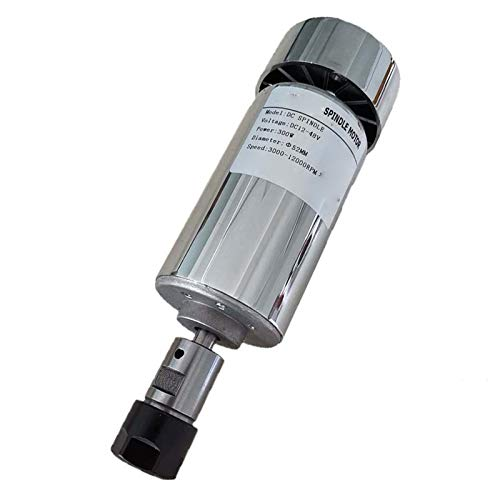 Lruirui-Motor DC Máquina de Grabado de husillo Motor de husillo Aire-enfriamiento de Aire CNC Spindle DC Motor CNC Grabado máquina ER11 o ER16, Piezas de Bricolaje (Color : 300W ER16 Spindle)