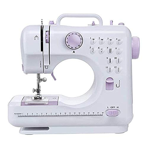 WMING Electric Sewing Machine Portable Mini with 12 Built-in Stitches, 2 Speeds Double Thread, Embroidery,Foot Pedal