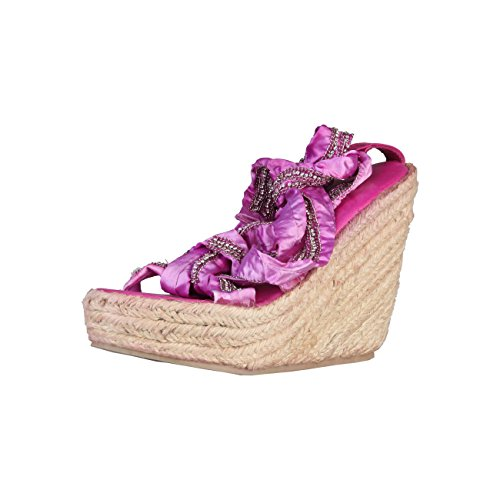 Primadonna 9154TES_Fuxia - Sandalias cuñas, zapatos de verano, zapatos de mujer, color fucsia, talla 38, color Rosa, talla 38 EU