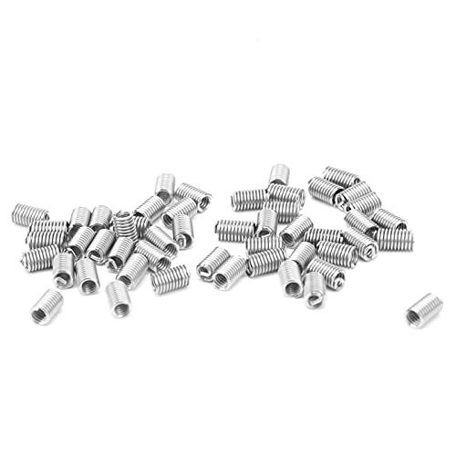 US Unit Thread Socket, 50Pcs Wire Thread Insert Thread Sheath for Industrial Supplies(3D)