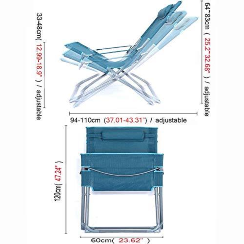 IG Portable Ménage Portable Multi-Function Chaise Pliante Déjeuner Pause Siesta Chaise Bureau Lit Chaise Chaise Lazy Beach